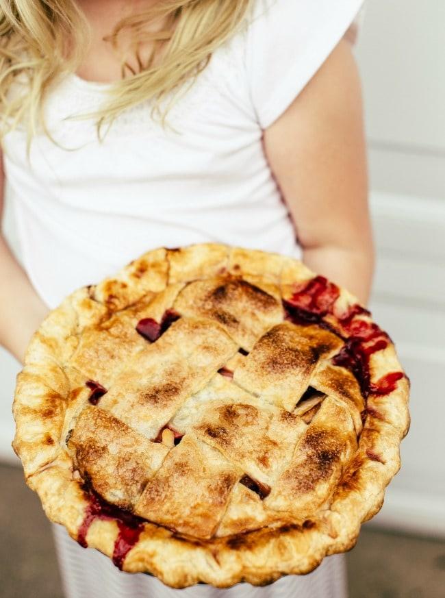 peach-apple-cherry pie