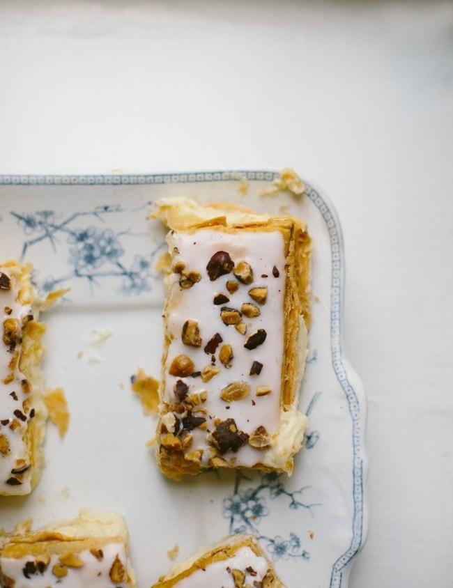 hazelnut and vanilla slice
