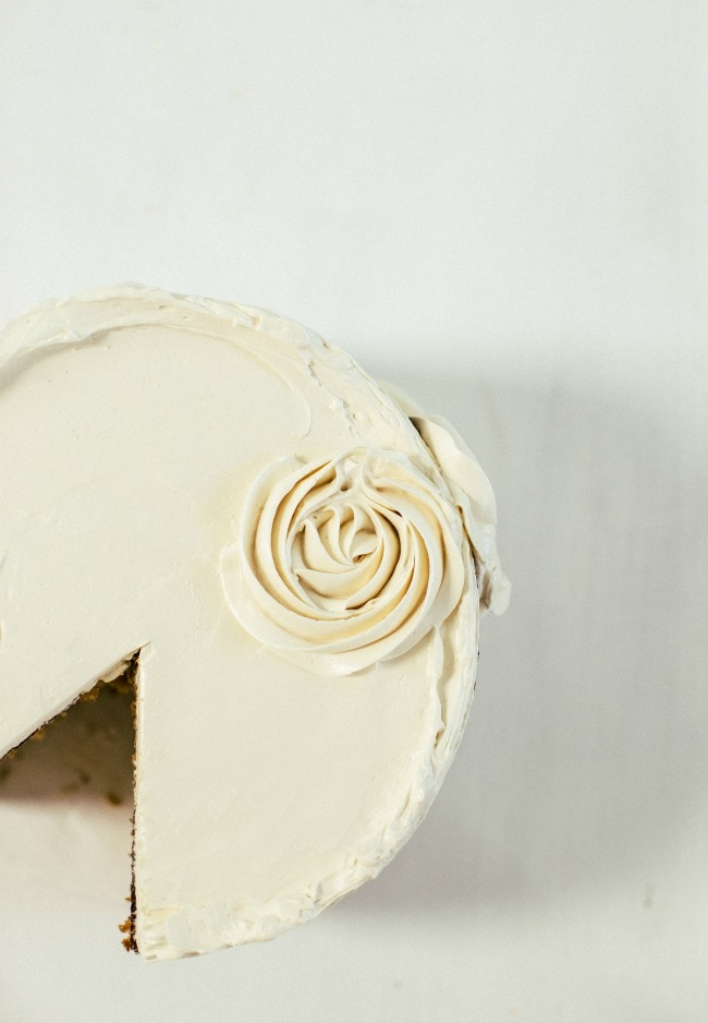 honey cake with caramel buttercream