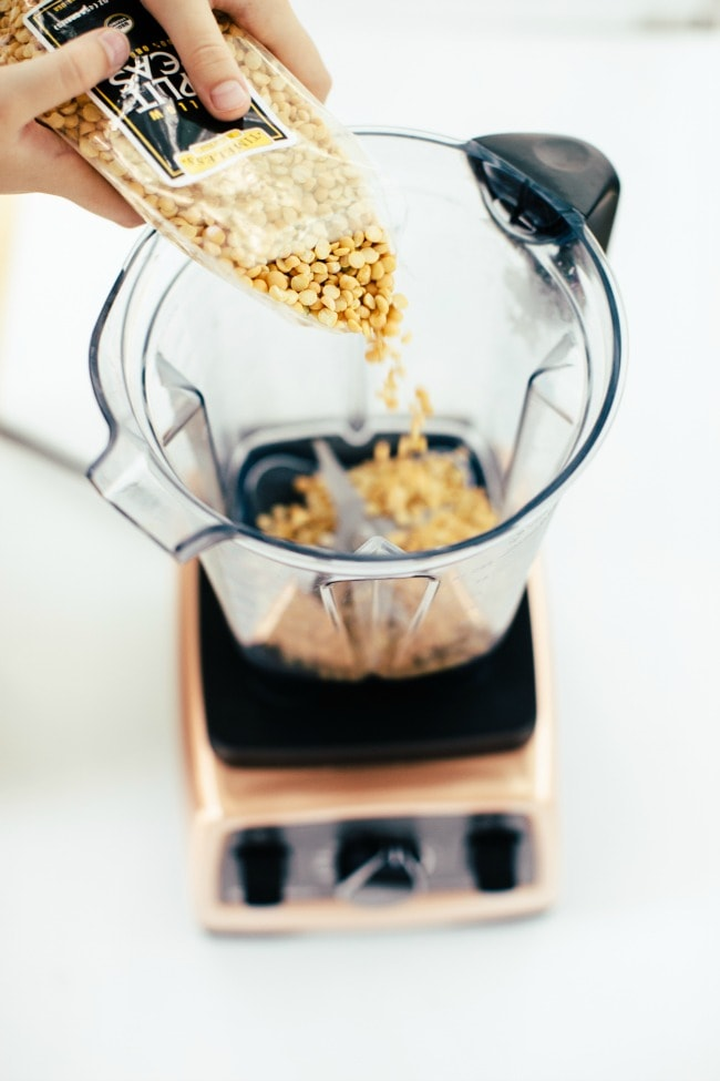 making yellow pea flour