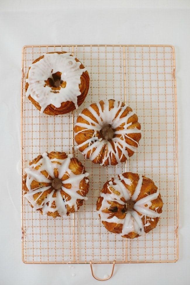 Cherry Poppy Seed Bundt Cakes | Sarah Kieffer | The Vanilla Bean Blog