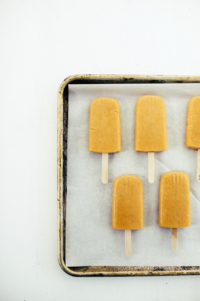 roasted peach and salted caramel pops
