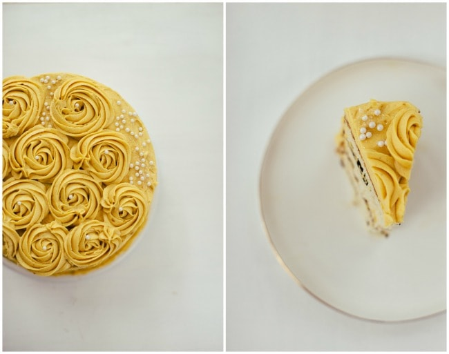Ginger Cake with Pumpkin Creme Mousseline | The Vanilla Bean Blog
