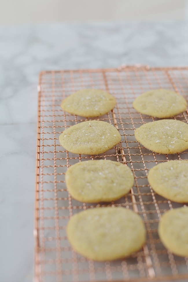 Ice Box Sugar Cookies with Ginger Sugar