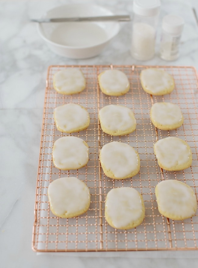 Ice Box Sugar Cookies with Ginger Sugar and Glaze