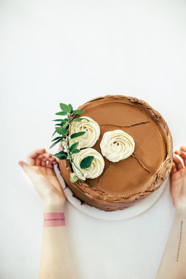 Ginger Cake with Pumpkin Creme Mousseline | Sarah Kieffer