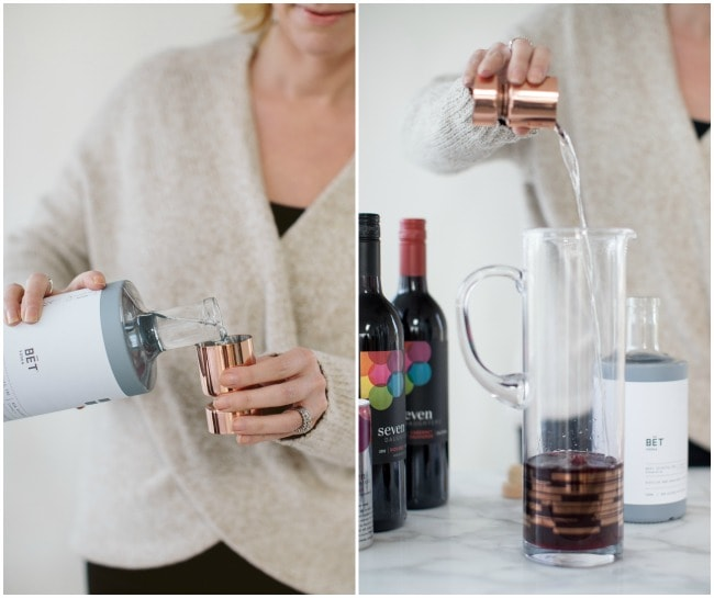 Pouring Vodka Into Cocktail | Sarah Kieffer | The Vanilla Bean Blog