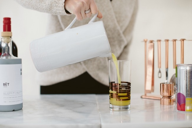 Pouring a Cocktail | Sarah Kieffer | The Vanilla Bean Blog