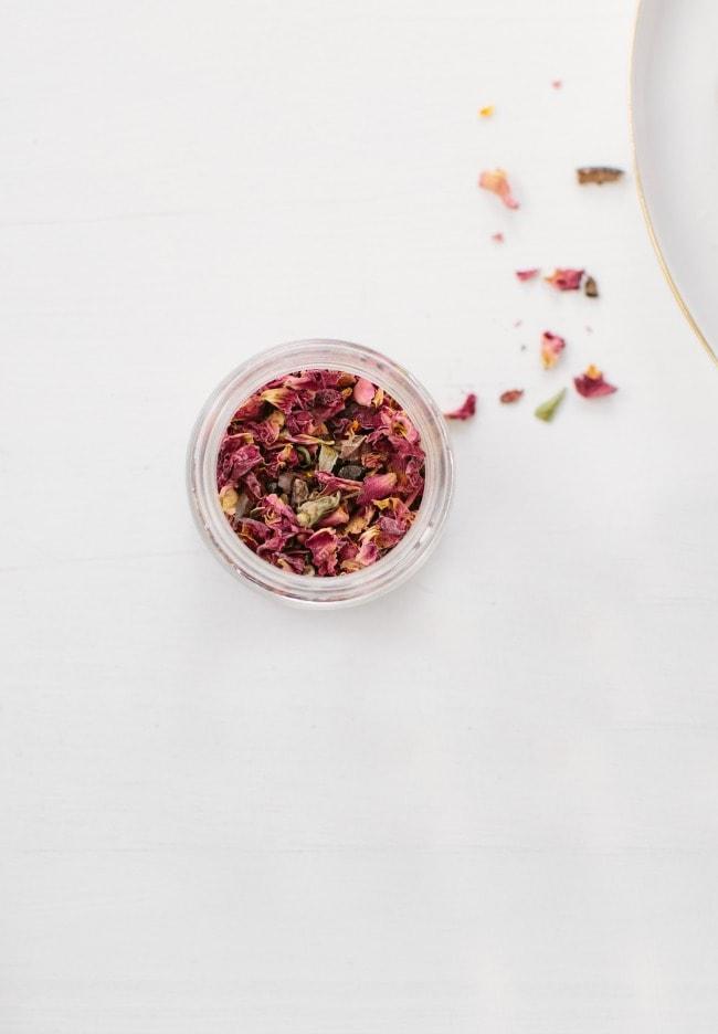 A Jar of Dried Rose Petals