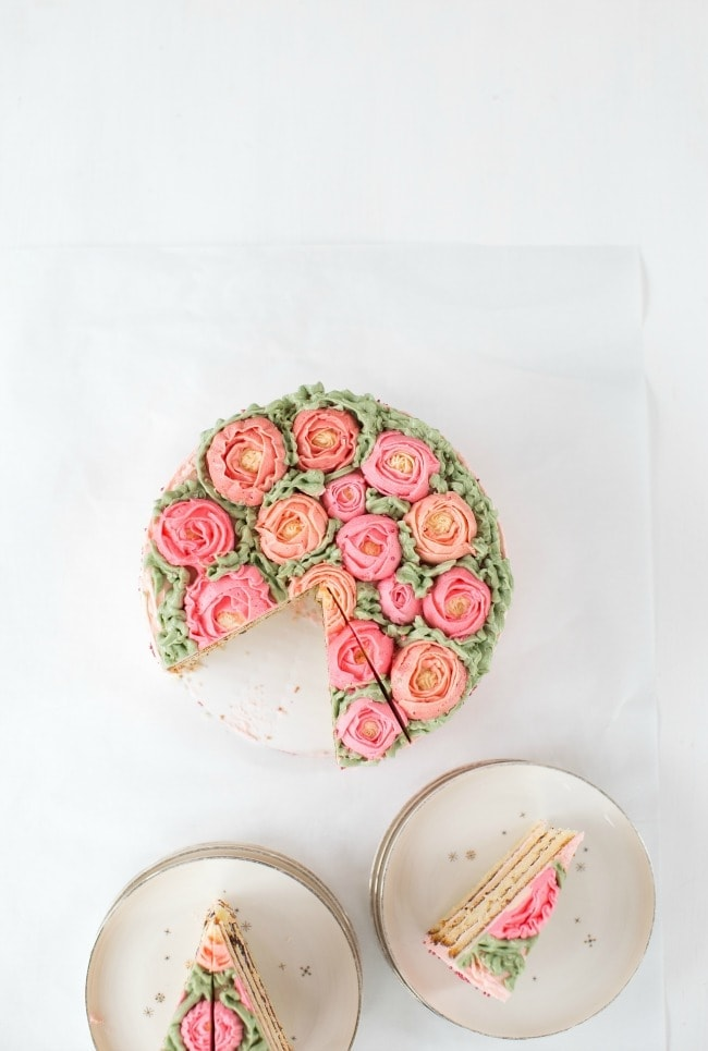 Almond Cake with Chocolate and Amaretto Buttercream | The Vanilla Bean Blog