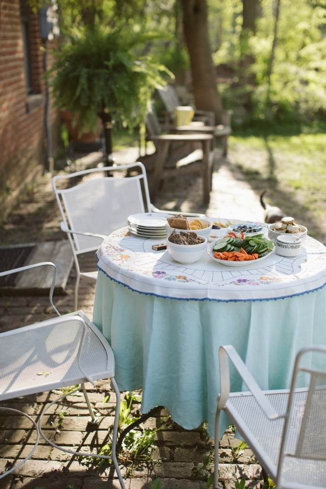 A table outside with appetizers. | The Vanilla Bean Blog