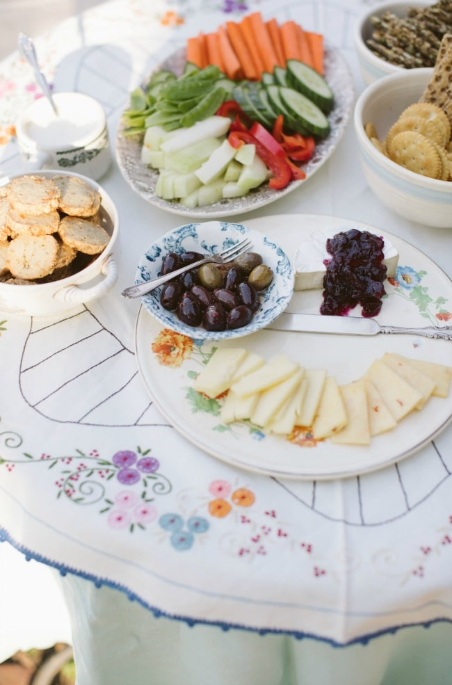 A close-up shot of appetizers on a table. | The Vanilla Bean Blog