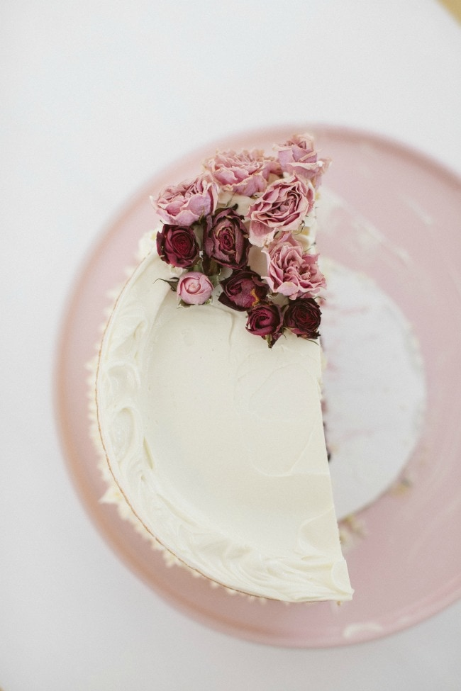 Crème Fraîche Cake With Roasted Berries and White Chocolate Buttercream | Sarah Kieffer