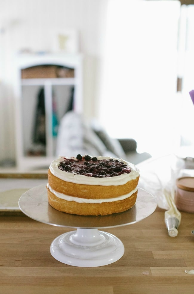 Crème Fraîche Cake With Roasted Berries | The Vanilla Bean Blog