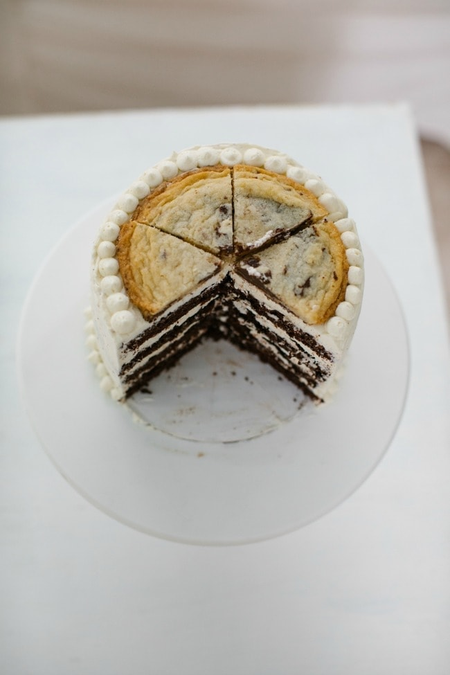 Chocolate Chip Cookie Cake with Chocolate Chip Buttercream | The Vanilla Bean Blog