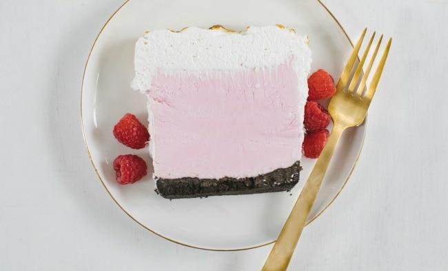 Raspberry Crème Fraîche Ice Cream Cake | The Vanilla Bean Blog