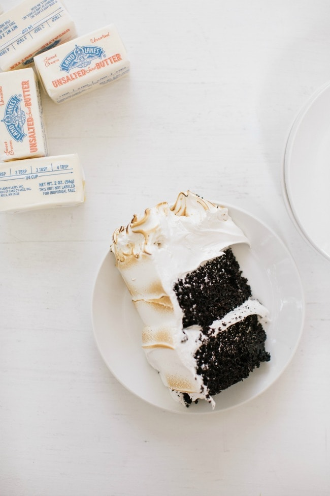 A slice of Chocolate Cake with Seven Minute Frosting Recipe | The Vanilla Bean Blog