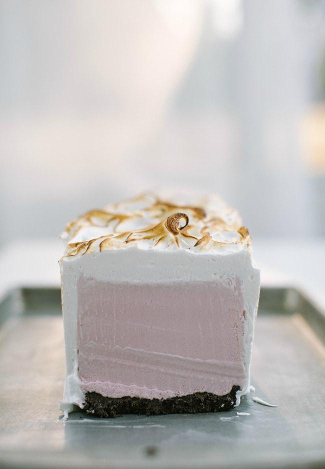 Raspberry Crème Fraîche Ice Cream Cake | Sarah Kieffer