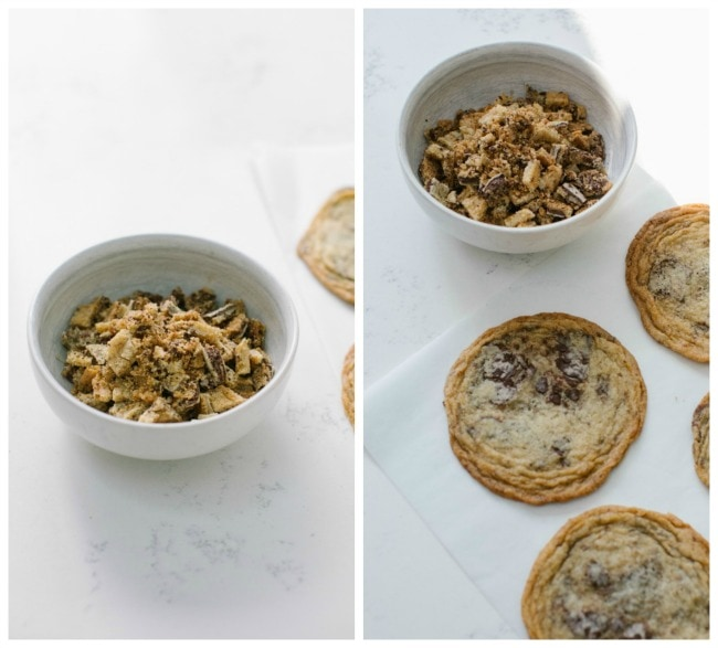 Chocolate Chip Cookies Crumbled for Ice Cream | The Vanilla Bean Blog