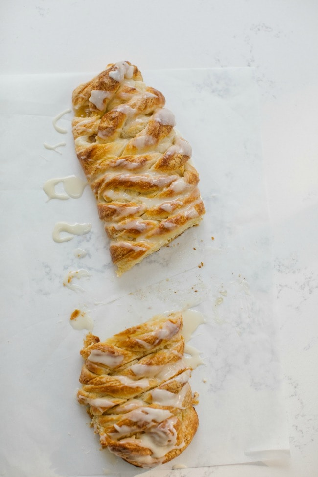 Danish Braid with Apple and Cream Cheese | The Vanilla Bean Blog