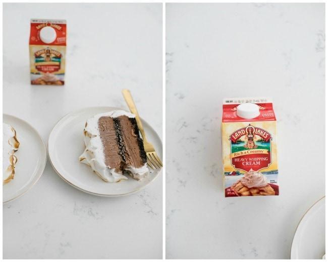 chocolate ice cream cake with mint meringue recipe | The Vanilla Bean Blog