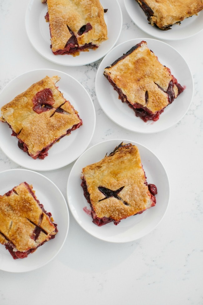 Cherries & Cream Slab Pie Slices | Sarah Kieffer | The Vanilla Bean Blog