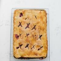Cherries & Cream Slab Pie | Sarah Kieffer | The Vanilla Bean Blog