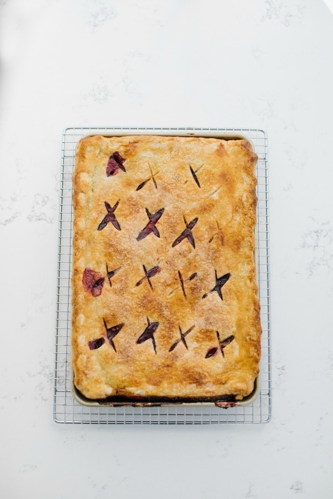 Cherries & Cream Slab Pie | Sarah Kieffer | The Vanilla Bean Blog