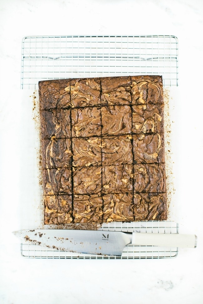 Peanut Butter Brownies With Candied Cacao Nibs | Sarah Kieffer
