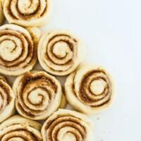 sweet dough made into cinnamon rolls