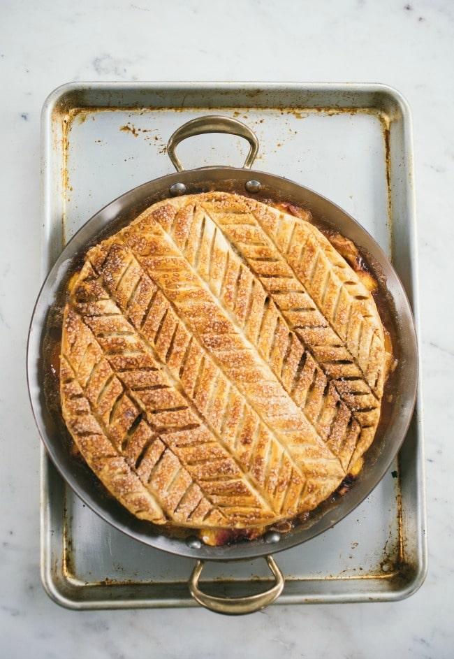 Peach Puff Pastry Pie