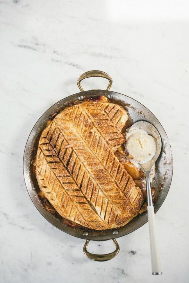 Peach Puff Pastry Pie