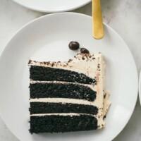 chocolate cake with espresso buttercream