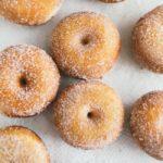homemade mini donuts coate in sugar