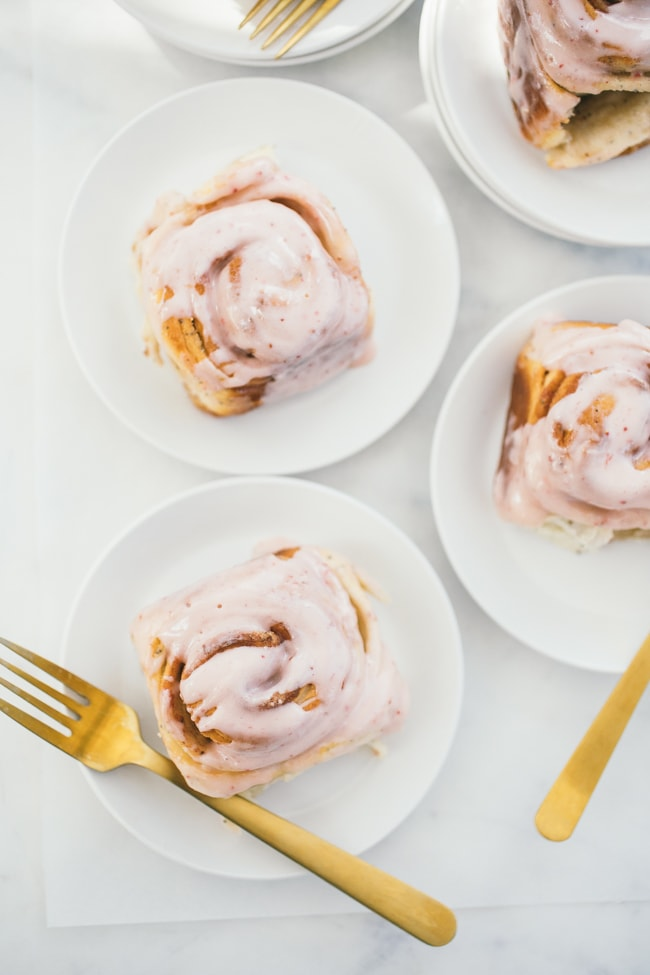 Strawberry Poppyseed Swirl Buns