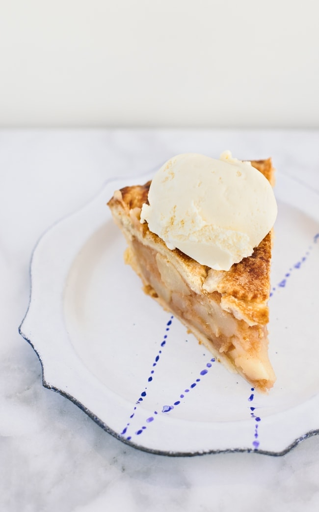 Pear Apple Hard Cider Pie