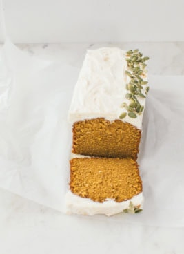 Pumpkin Spice Bread with Cream Cheese Icing | Sarah Kieffer | The Vanilla Bean Blog