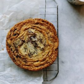 pan-banging chocolate chip cookie