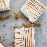 whole meyer lemon meringue bars