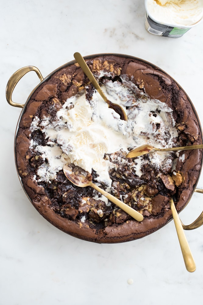 Brownie Cookie Dough Skillet