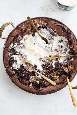 Brownie Butter Chocolate Cookie Brownie Skillet