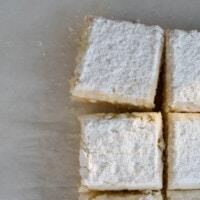 Powdered Sugar Donut Cake