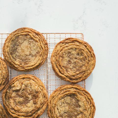 Pan-banging ginger molasses cookies
